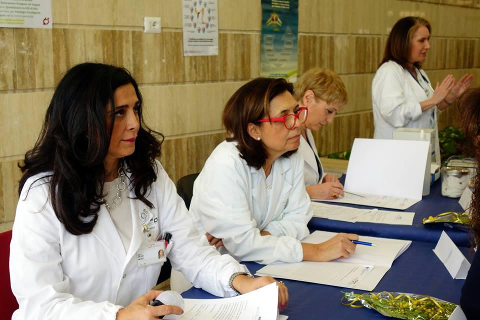 Le Dott.sse Migliano e Stigliano per la giornata dell'8 marzo agli IFO
