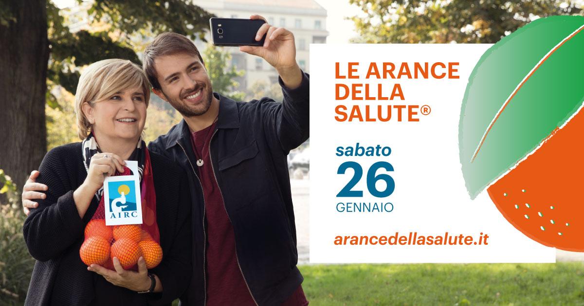 Foto della campagna Airc 2019 arance della salute