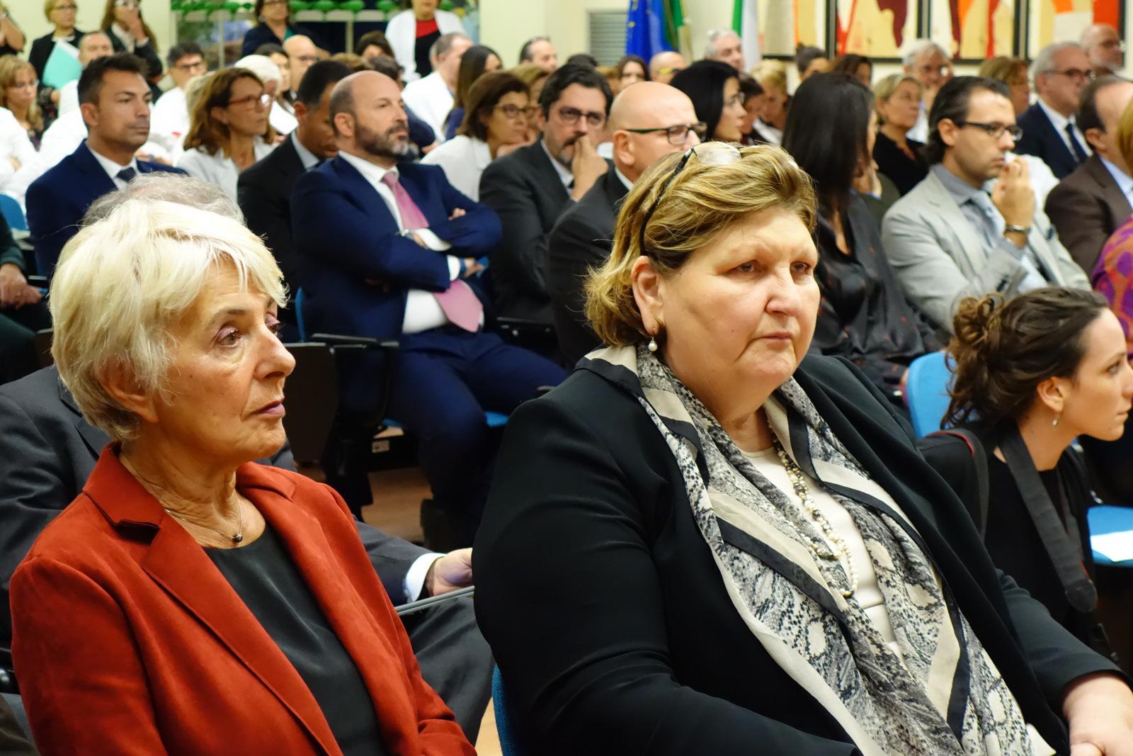 Le Dottoresse Bomboni e Vujovic alla presentazione del centro di fase 1 degli IFO