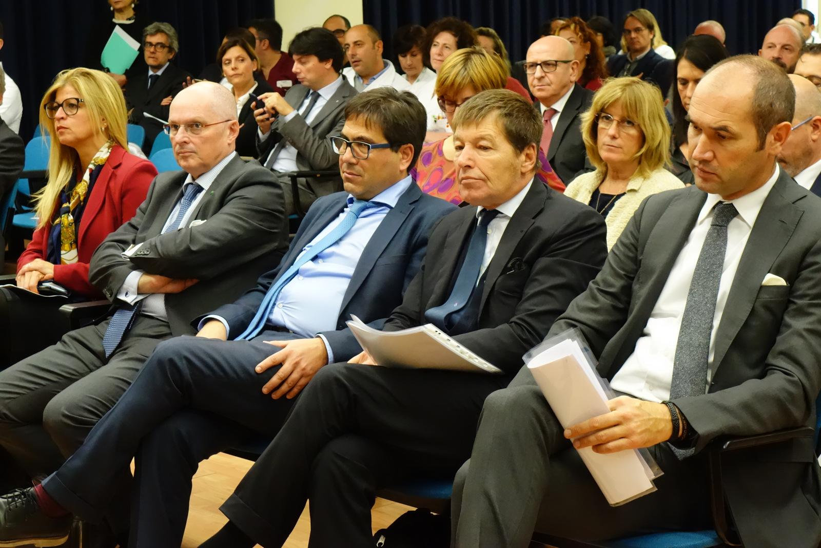 L'assessore regionale alla sanità D'Amato tra il pubblico allapresentazione del centro di fase 1 degli IFO