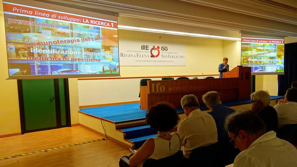 Il DG Ripa di Meana alla presentazione del piano strategico IFO 2019