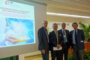Bartolazzi, Ciliberto, il DG Ripa di Meana al workshop sulla genomica del tumori