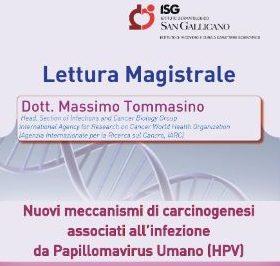 Locandina della lectio magistralis del Dr. Tommasino