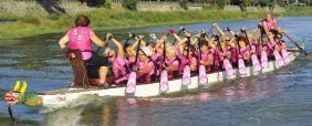 Pagaie rosa al lago